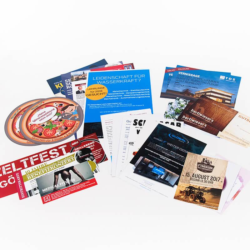 Druckerei Grafiko Flyer und Folder