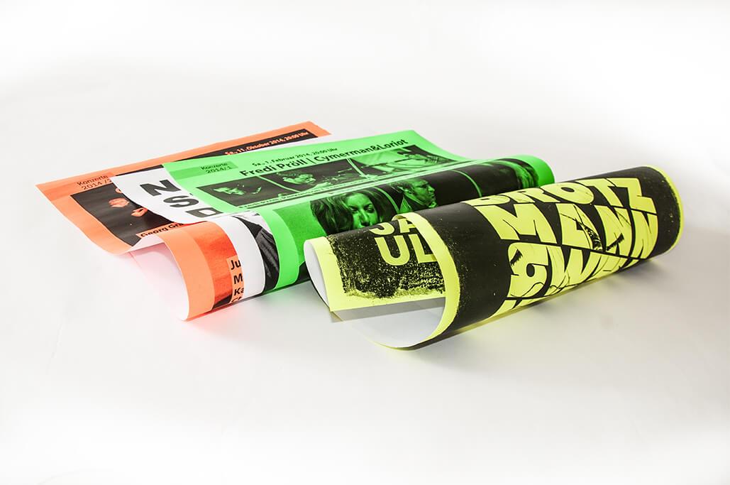 Druckerei grafiko Neonplakate