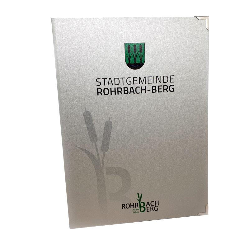 Druckerei grafiko Bucheinbände Stadtgemeinde Rohrbach-Berg