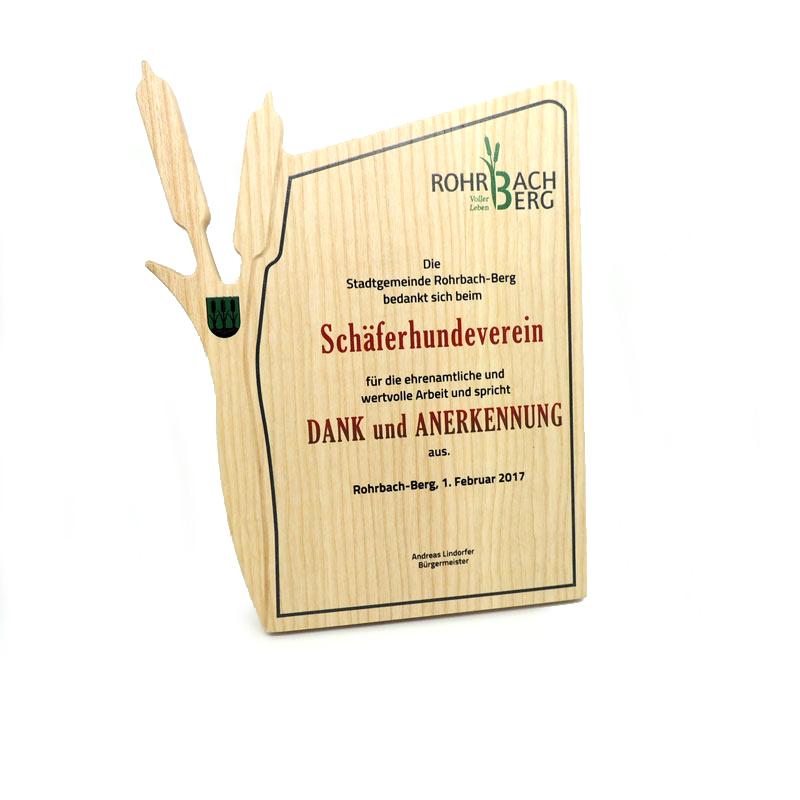 Druckerei grafiko Druck auf Holz